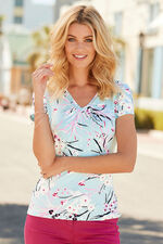 Willow Floral V Neck Top