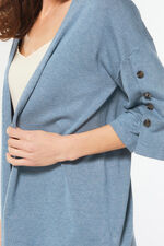 Button Detail Kimono Cardigan