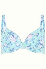 Aqua Floral T-Shirt Bra