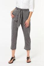 Mini Stripe Linen Blend Crop Trouser