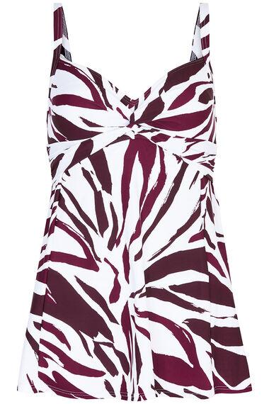 Zebra Knot Front Swimdress