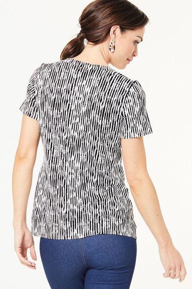 Square Neck Stripe Top