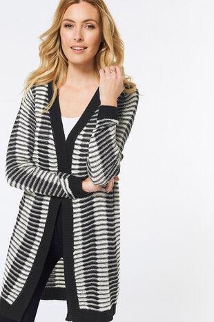 Stella Morgan Stripe Longline Cardigan