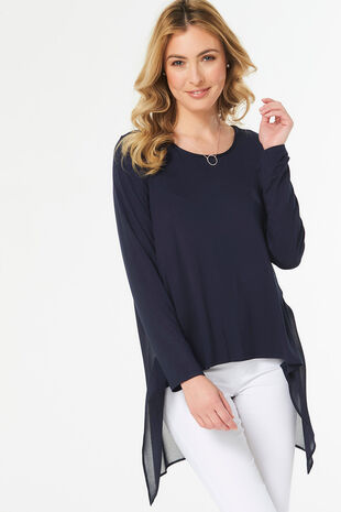 Jersey Tunic with Chiffon Back