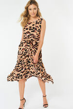 Animal Print Hanky Hem Dress