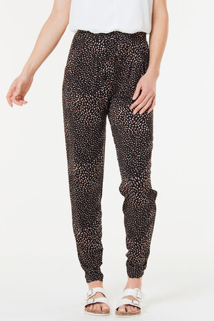 Blurred Spot Jersey Harem Trousers