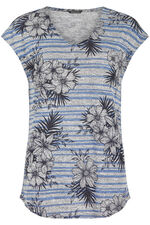 Stripe Floral Snit Top