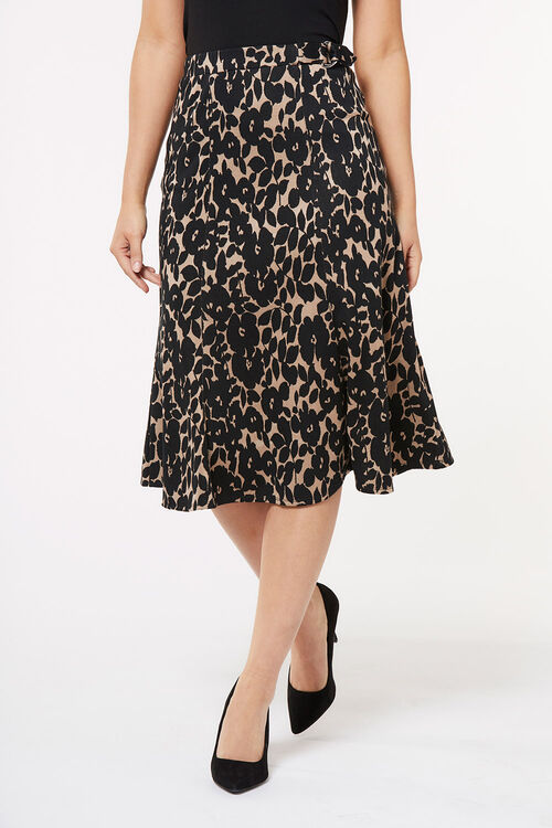 Textured D-Ring Midi Skirt