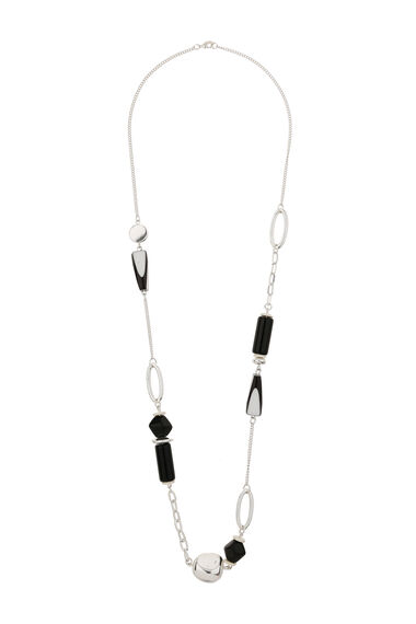 Muse Striped Resin Bead Necklace