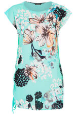 Large Floral Print Tunic with Jersey Back