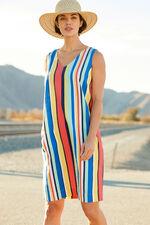Striped Linen Blend Dress
