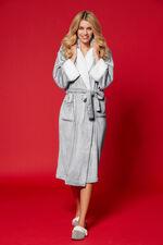 Fleece Trim Dressing Gown