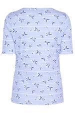 Half Sleeve Scoop Neck Butterfly Print T-Shirt