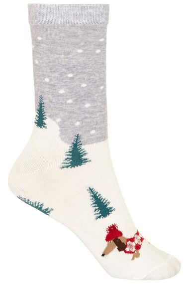 3 Pack Dachshund Through the Snow Sock