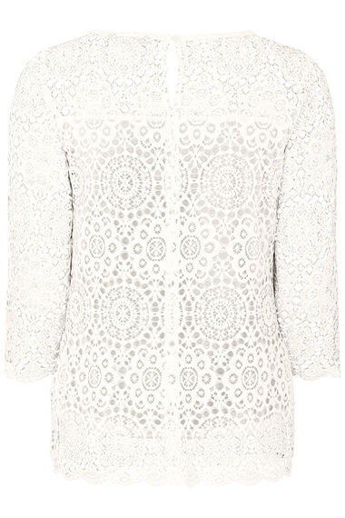 3/4 Sleeve Lace Shell Top