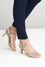 Comfort Plus Diamante Heel Sandal