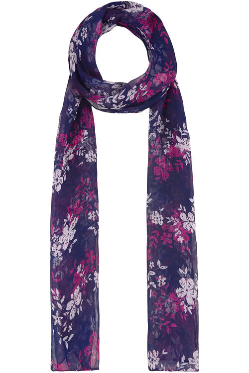 Clustered Floral Chiffon Scarf