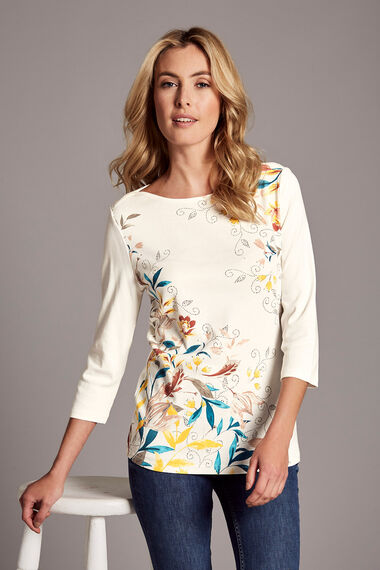 Trailing Floral Print T-Shirt