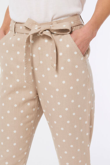 Spot Tapered Linen Blend Trouser
