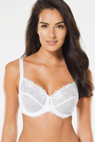 Floral Embroidered Underwired Bra