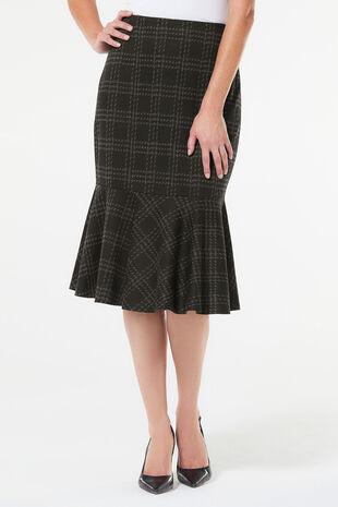 Check Flounce Skirt