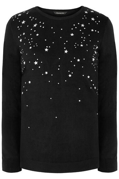 Trailing Star Embroidered Jumper