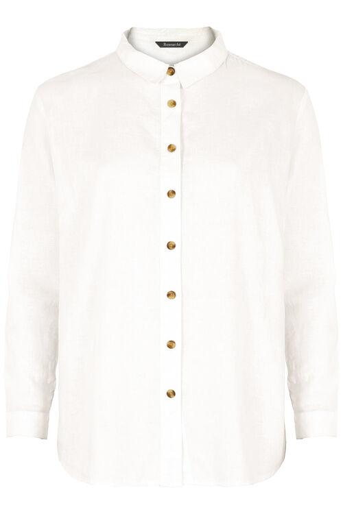 Long Sleeve Plain Linen Shirt