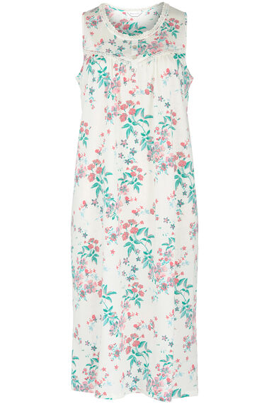 Sleeveless Carnation Floral Nightdress