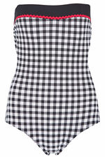 Gingham Bandeau Swimsuit