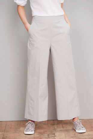 Salvari Wide Leg Cropped Trouser