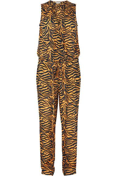Isla & Rose Ochre Zebra Print Sleeveless Jumpsuit