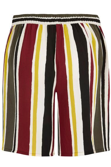 Stripe Crepe Short