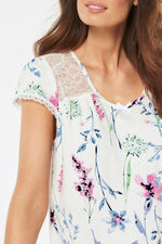 Floral Lace Panel Nightdress