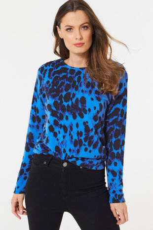 Supersoft Brushed Animal Print Jumper