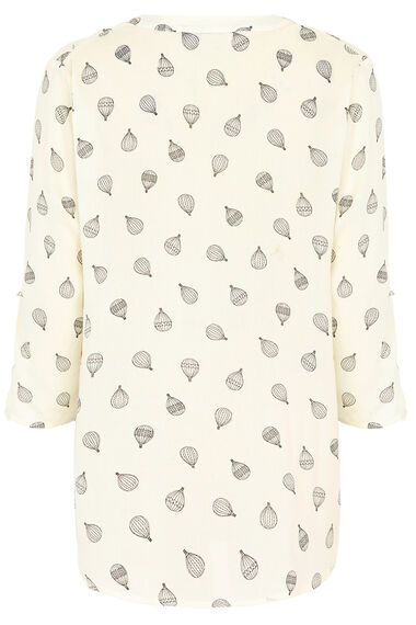 Balloon Print Woven Shirt