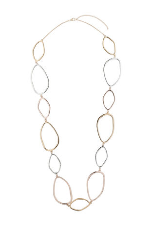 Muse Mixed Metal Linked Long Necklace