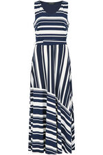 Sleeveless Stripe Print Maxi Dress