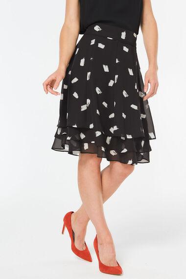 Chiffon Smudge Spot Skirt