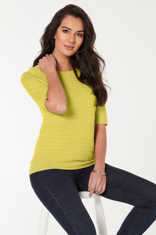 Short Sleeve Ripple Textured Jumper