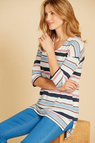 Stripe Textured Tunic