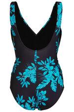 Blue Floral Leaf Swimsuit