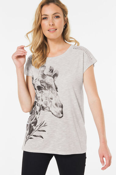 Giraffe Print T-Shirt