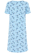 Floral Notch Neck Nightdress