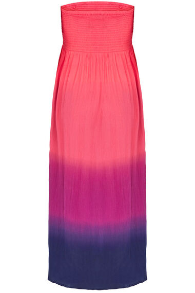 Shirred Ombre Maxi Dress