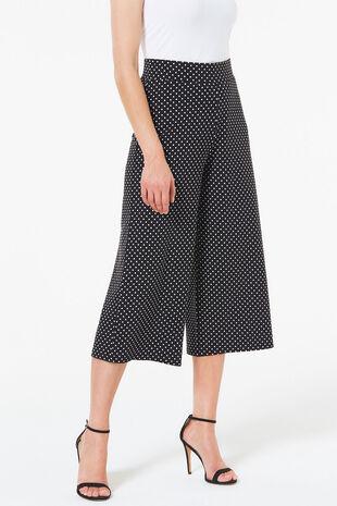 Spot Print Jersey Culotte