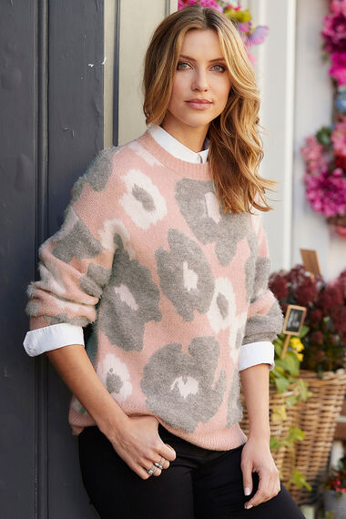 Abstract Floral Jumper