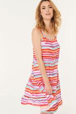 Stripe Frill Sundress