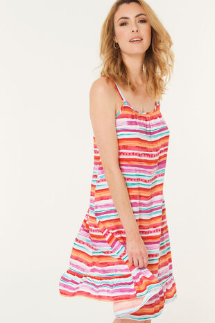 Stripe Frill Sundress