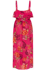 Floral Print Cold Shoulder Maxi Dress