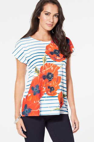 Printed Poppy T-Shirt